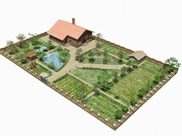 Планировка сада и огорода под свой вкус