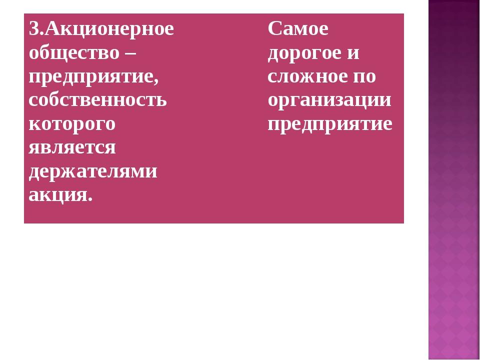 3.Акционерное общество – предприятие, собственность которого является держате...