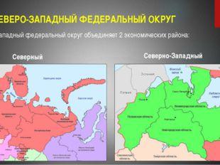 СЕВЕРО-ЗАПАДНЫЙ ФЕДЕРАЛЬНЫЙ ОКРУГ Северо-Западный федеральный округ объединяе