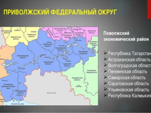 ПРИВОЛЖСКИЙ ФЕДЕРАЛЬНЫЙ ОКРУГ Поволжский экономический район Республика Татар