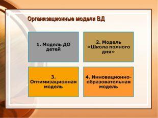 Организационные модели ВД
