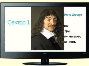 Рене Декарт Сектор 1 «Би» - два, «Три» - три, «Квадра» - четыре», «Квинта» -