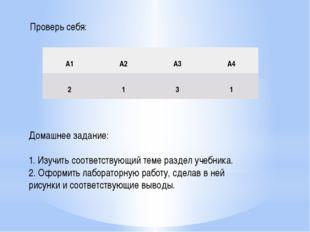Домашнее задание: 1. Изучить соответствующий теме раздел учебника. 2. Оформит