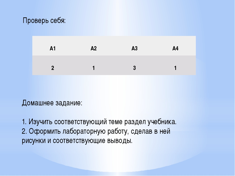Домашнее задание: 1. Изучить соответствующий теме раздел учебника. 2. Оформит...