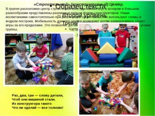 «Строительный» (конструктивный) Центр, В группе расположен центр строительно