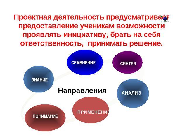 Проектная деятельность предусматривает предоставление ученикам возможности пр...