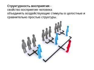 Структурностьвосприятия- свойствовосприятиячеловека объединятьвоздейству