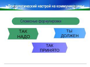 www.themegallery.com Company Logo Психологический настрой на коммуникацию Pha