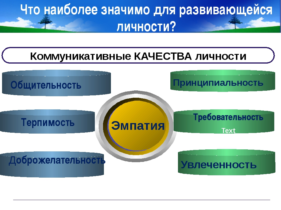 www.themegallery.com Company Logo Что наиболее значимо для развивающейся личн...