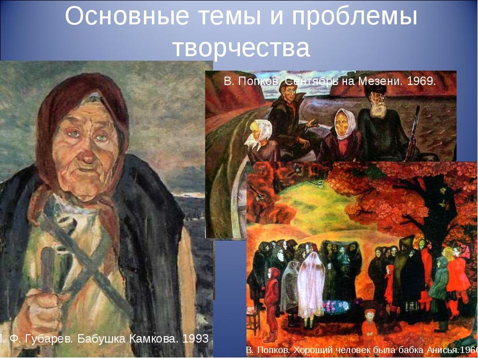 Основные темы и проблемы творчества В . И. Тюленев. Отчий дом. 1990. П. Ф. Гу...