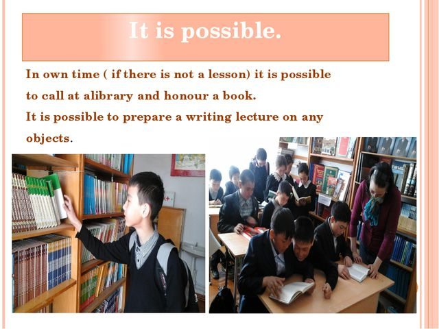 Itispossible. Inowntime(ifthereisnotalesson)itispossible toca...