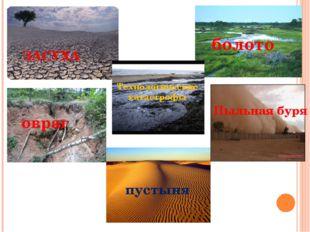 ЗАСУХА болото овраг Пыльная буря Технологические катастрофы пустыня