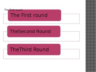 The Third round 1.(Red questions) 2.(Yellow questions) 3.(Blue questions) 4.(