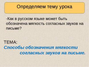 -Как в русском языке может быть обозначена мягкость согласных звуков на пись
