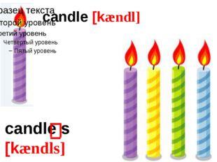 candle [kændl] candle s [kændls]