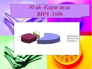 10 ай -Қарағанда ВИЧ -1606