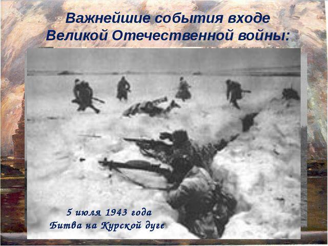 Важнейшие события входе Великой Отечественной войны: 5 декабря 1941г. Московс...