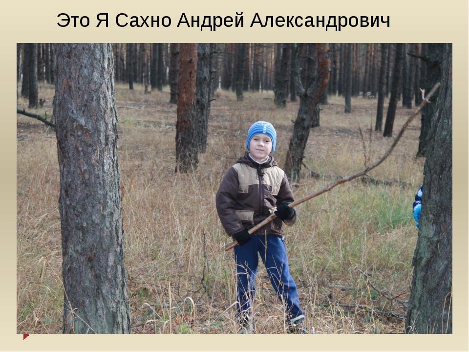 Это Я Сахно Андрей Александрович