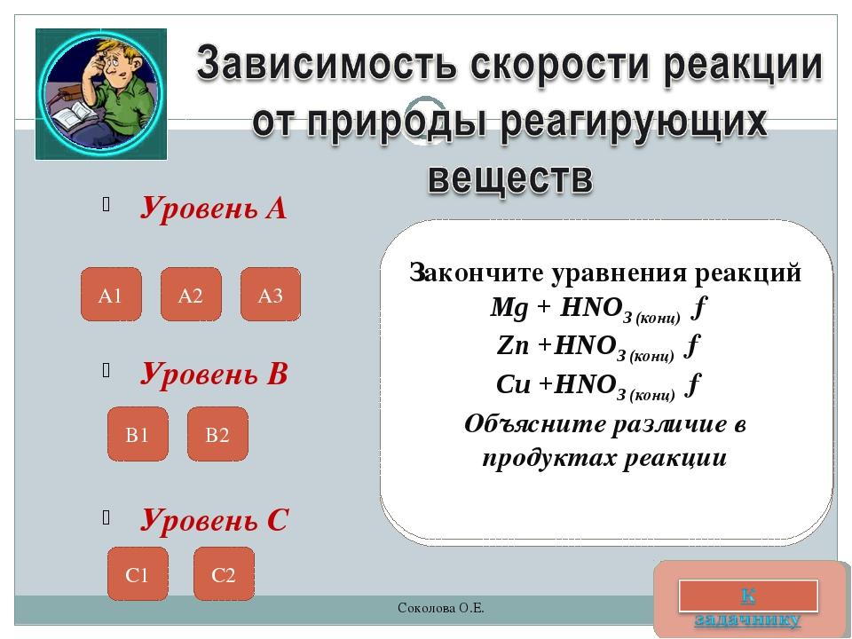 Уровень А Приведите примеры химических процессов, в которых бы прослеживалась...