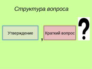 Структура вопроса ,