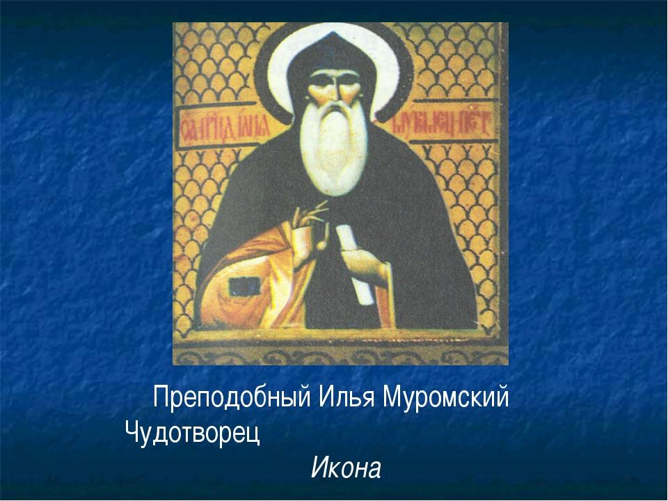 Преподобный Илья Муромский Чудотворец Икона