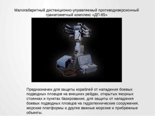 Малогабаритный дистанционно-управляемый противодиверсионный гранатометный ком
