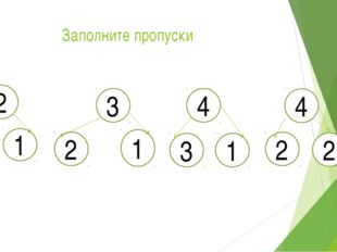 Заполните пропуски 2 1 1 3 2 1 4 3 1 4 2 2 2