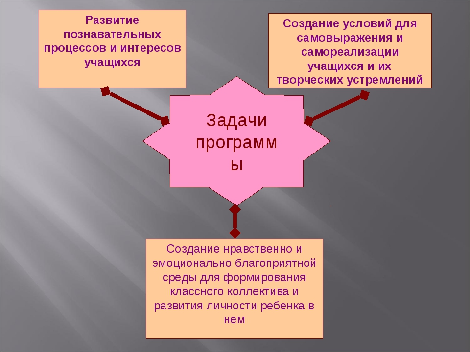 Задачи программы Развитие познавательных процессов и интересов учащихся Созда...