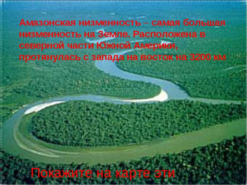 Амазонская низменность – самая большая низменность на Земле. Расположена в се...