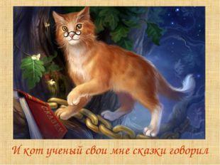 И кот ученый свои мне сказки говорил