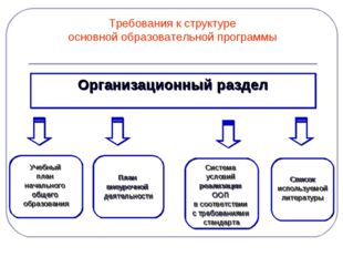 Требования к структуре основной образовательной программы Организационный раз
