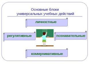 Основные блоки универсальных учебных действий регулятивные личностные познава