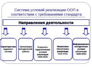 Система условий реализации ООП в соответствии с требованиями стандарта Направ