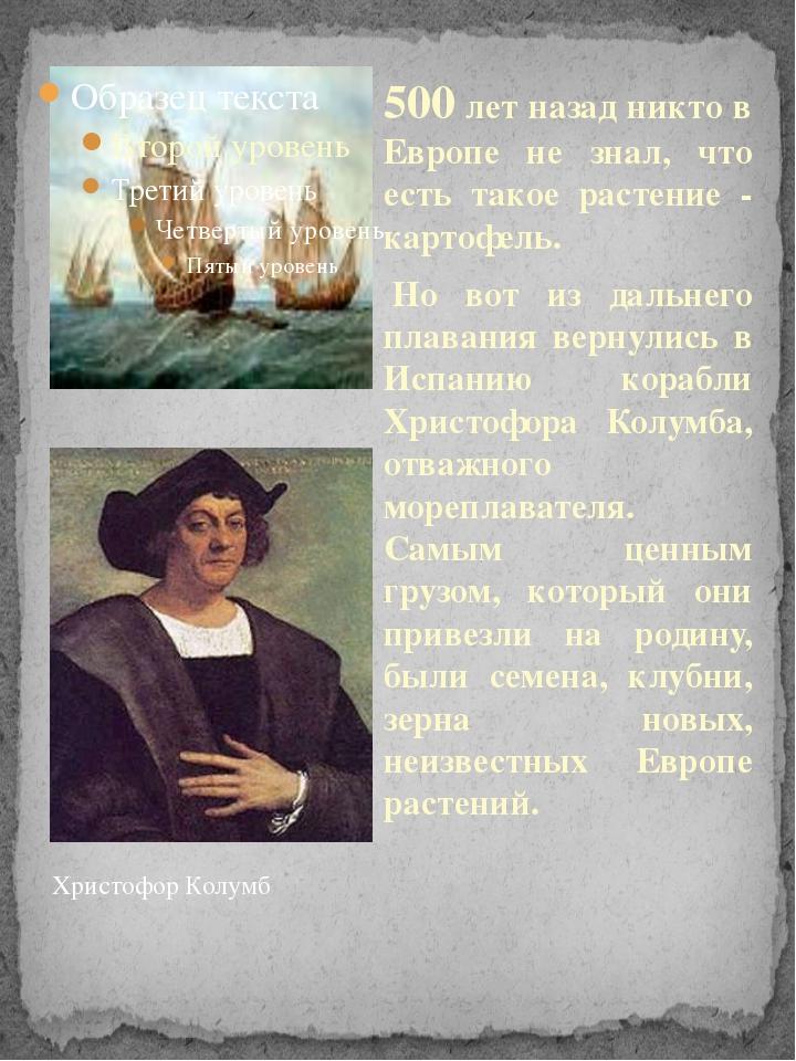 500 лет назад никто в Европе не знал, что есть такое растение - картофель. Н...