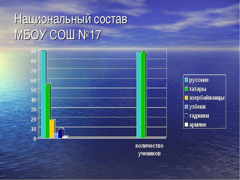 Национальный состав МБОУ СОШ №17