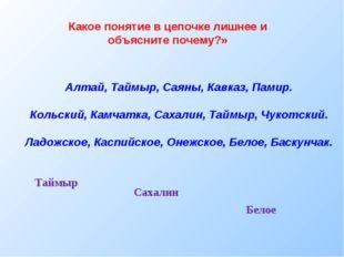 Алтай, Таймыр, Саяны, Кавказ, Памир. Кольский, Камчатка, Сахалин, Таймыр, Чук