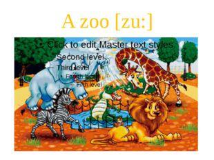 A zoo [zu:]