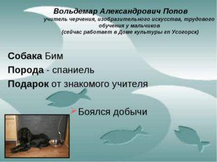 Вольдемар Александрович Попов учитель черчения, изобразительного искусства,
