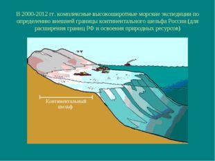 В 2000-2012 гг. комплексные высокоширотные морские экспедиции по определению