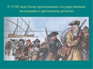 В XVIII веке были организованы государственные экспедиции в арктические регионы