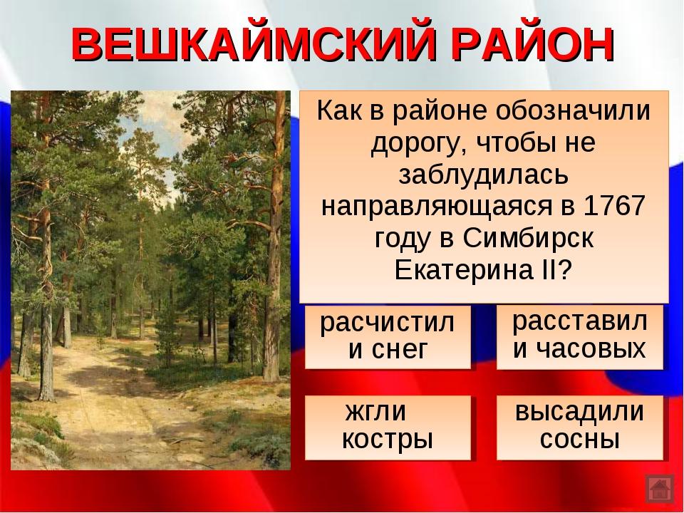 ВЕШКАЙМСКИЙ РАЙОН Как в районе обозначили дорогу, чтобы не заблудилась направ...