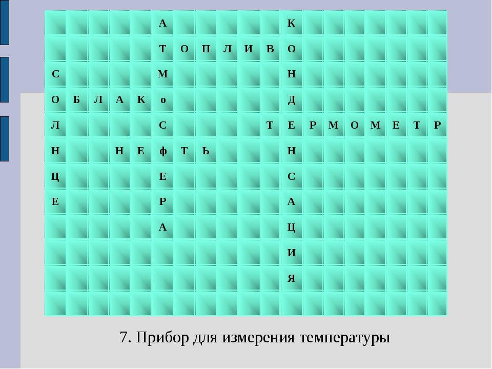 7. Прибор для измерения температуры АК ...