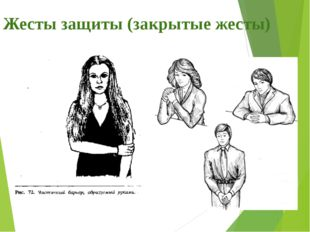 Жесты защиты (закрытые жесты)