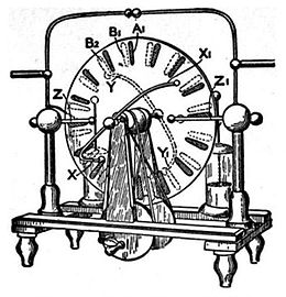 https://upload.wikimedia.org/wikipedia/commons/thumb/7/7f/WimshurstElectricMachine.jpg/260px-WimshurstElectricMachine.jpg