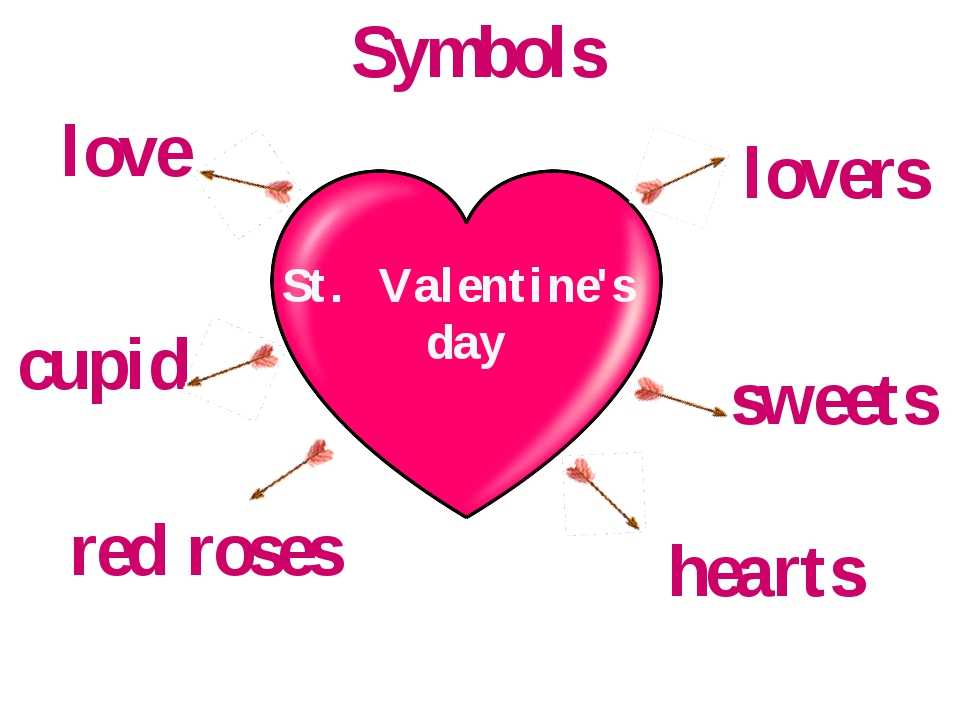 St. Valentine's day red roses cupid hearts love lovers sweets Symbols