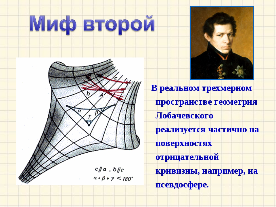 В реальном трехмерном пространстве геометрия Лобачевского реализуется частич...