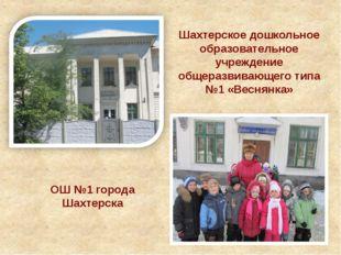 Шахтерское дошкольное образовательное учреждение общеразвивающего типа №1 «Ве