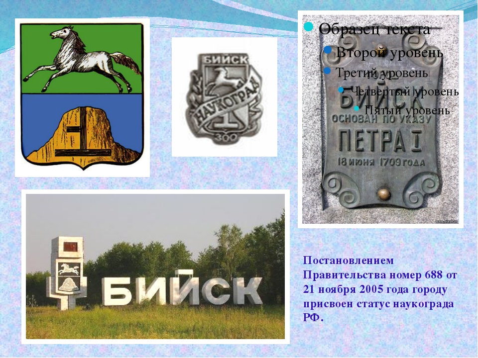 Постановлением Правительства номер 688 от 21 ноября 2005 года городу присвоен...