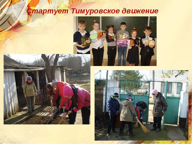 Стартует Тимуровское движение