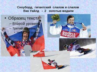 Сноуборд, гигантский слалом и слалом Вик Уайлд - 2 золотые медали